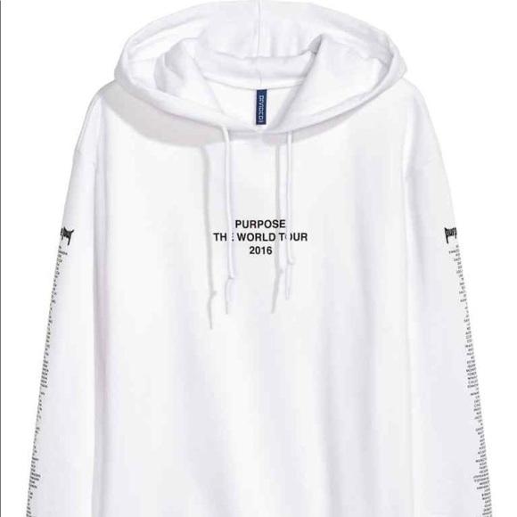 aa81dfbed322 H M Sweaters - White purpose tour hoodie